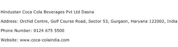 Hindustan Coca Cola Beverages Pvt Ltd Dasna Address Contact Number