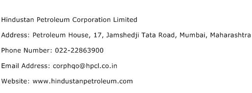 Hindustan Petroleum Corporation Limited Address Contact Number