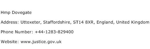 Hmp Dovegate Address Contact Number