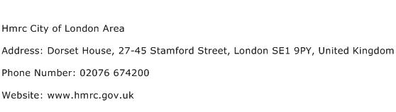 Hmrc City of London Area Address Contact Number