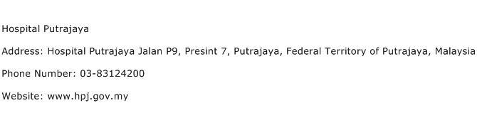 Hospital Putrajaya Address Contact Number