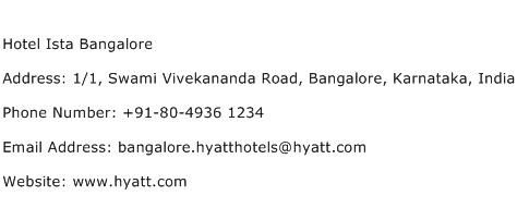 Hotel Ista Bangalore Address Contact Number