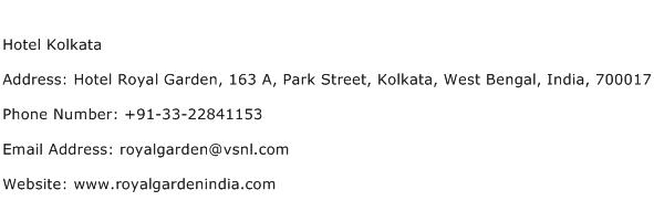 Hotel Kolkata Address Contact Number