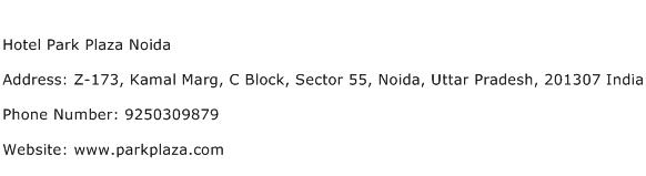 Hotel Park Plaza Noida Address Contact Number