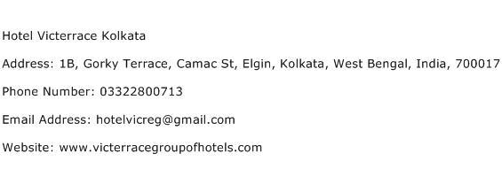 Hotel Victerrace Kolkata Address Contact Number