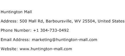 Huntington Mall Address Contact Number