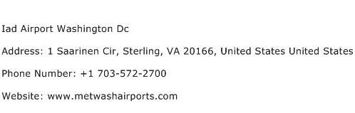 Iad Airport Washington Dc Address Contact Number