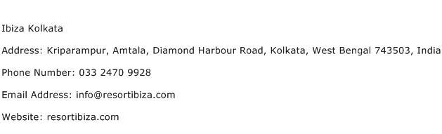 Ibiza Kolkata Address Contact Number