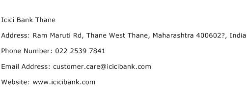Icici Bank Thane Address Contact Number