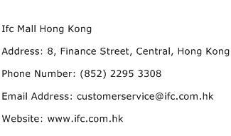 Ifc Mall Hong Kong Address Contact Number