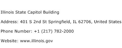 Illinois State Capitol Building Address Contact Number