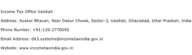 Income Tax Office Vaishali Address Contact Number