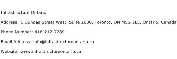Infrastructure Ontario Address Contact Number