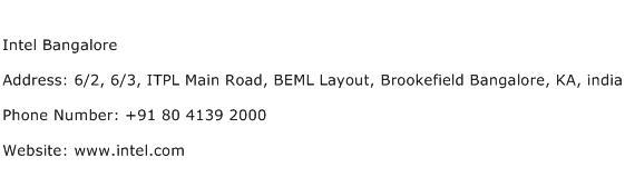 Intel Bangalore Address Contact Number