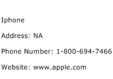 Iphone Address Contact Number