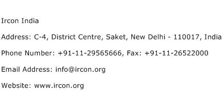 Ircon India Address Contact Number