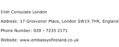Irish Consulate London Address Contact Number