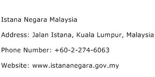 Istana Negara Malaysia Address Contact Number