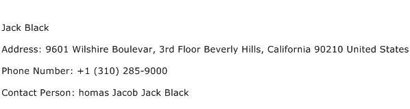 Jack Black Address Contact Number