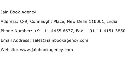Jain Book Agency Address Contact Number