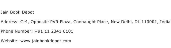Jain Book Depot Address Contact Number