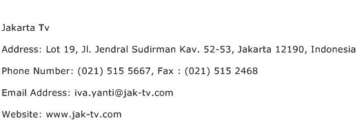 Jakarta Tv Address Contact Number