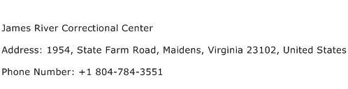 James River Correctional Center Address Contact Number