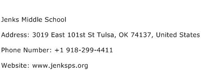 Jenks Middle School Address Contact Number