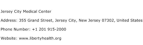 Jersey City Medical Center Address Contact Number