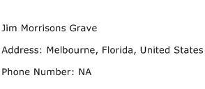 Jim Morrisons Grave Address Contact Number