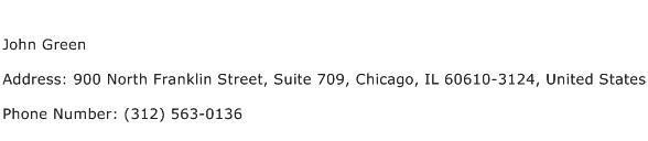 John Green Address Contact Number