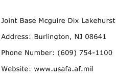 Joint Base Mcguire Dix Lakehurst Address Contact Number