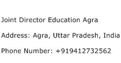 Joint Director Education Agra Address Contact Number