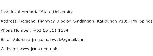 Jose Rizal Memorial State University Address Contact Number