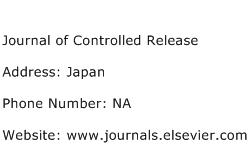 Journal of Controlled Release Address Contact Number