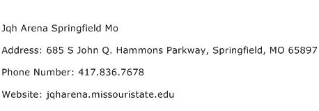 Jqh Arena Springfield Mo Address Contact Number