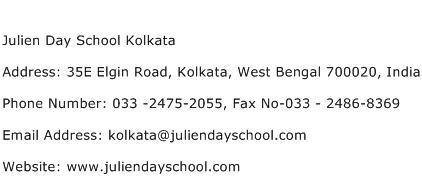 Julien Day School Kolkata Address Contact Number