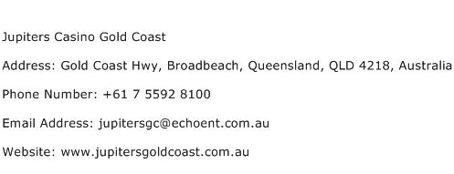 Jupiters Casino Gold Coast Phone Number