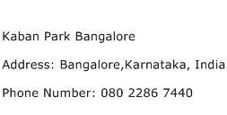 Kaban Park Bangalore Address Contact Number