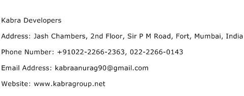 Kabra Developers Address Contact Number
