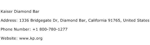 Kaiser Diamond Bar Address Contact Number