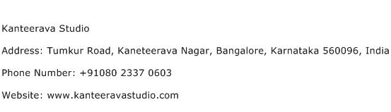 Kanteerava Studio Address Contact Number