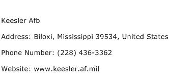 Keesler Afb Address Contact Number