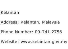 Kelantan Address Contact Number