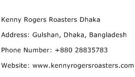 Kenny Rogers Roasters Dhaka Address Contact Number