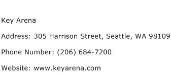 Key Arena Address Contact Number