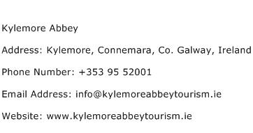 Kylemore Abbey Address Contact Number