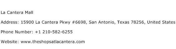 La Cantera Mall Address Contact Number
