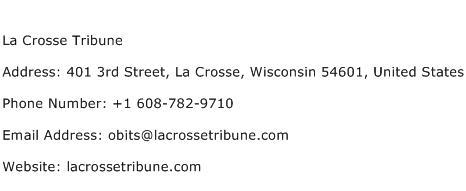 La Crosse Tribune Address Contact Number
