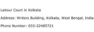 Labour Court in Kolkata Address Contact Number